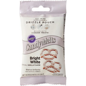 Wilton Bright White Candy Drizzles Pouches