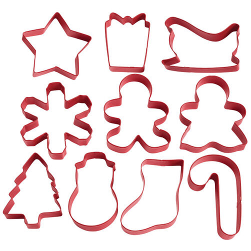 Holiday Shapes 10 pc. Cookie Cutter Set