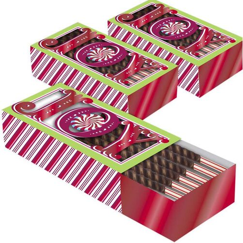 Peppermint Sliding Cookie Boxes