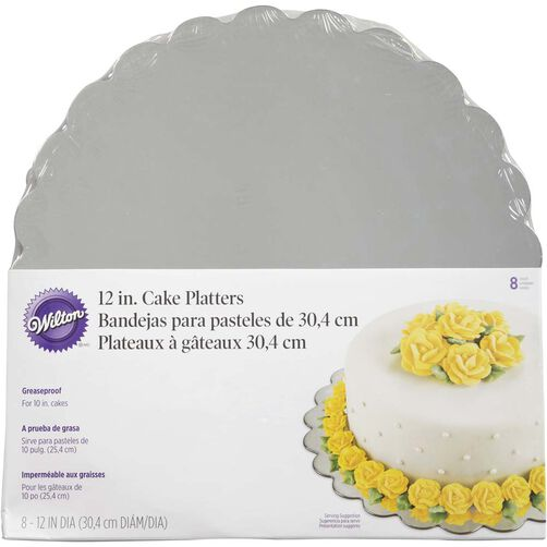 12 in. Round Silver Cake Platter