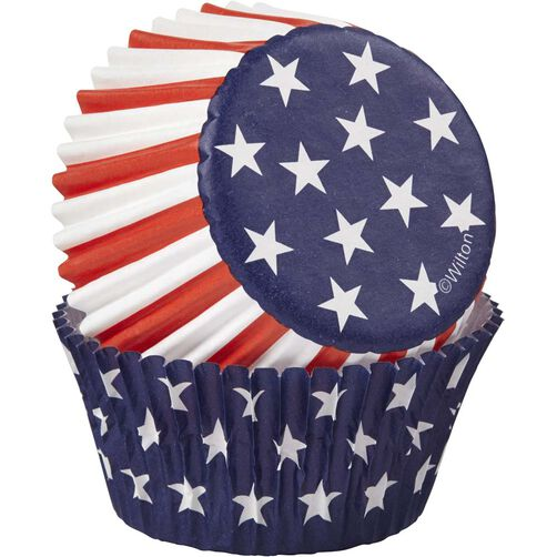 Red, White & Blue Cupcake Liners