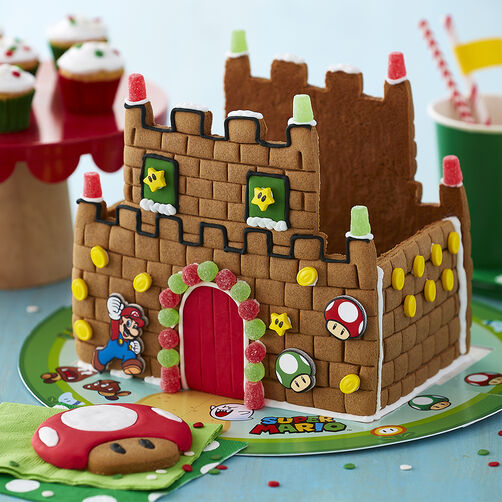 Super Mario Brothers Gingerbread Castle Decorating Kit
