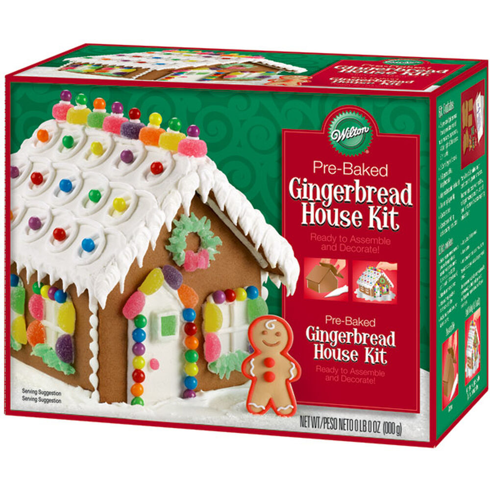 Gingerbread house kits because baking it yourself is
