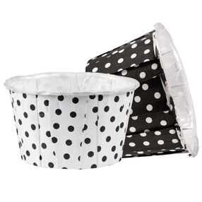 Black White Dots Standard Nut Cup