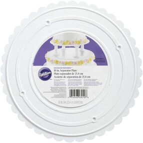 Decorator Preferred 10 Inch Scalloped Separator Plate