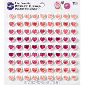 Wilton Mini Heart Candy Decorations