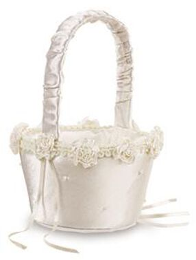 Traditional Ivory Flower Basket