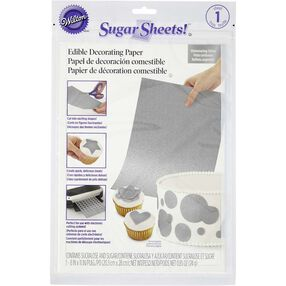 Shimmering Silver Sugar Sheets! Edible Decorating Paper