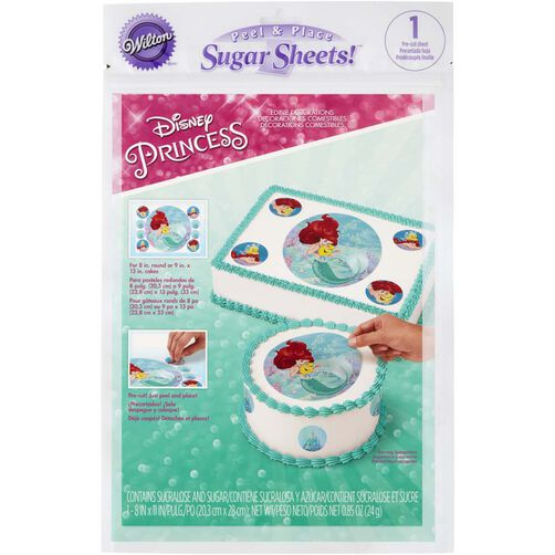 Disney Princess Ariel Edible Images Cake Decorating Kit