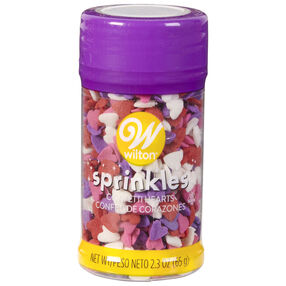 Confetti Heart Sprinkles, 2.3 oz.