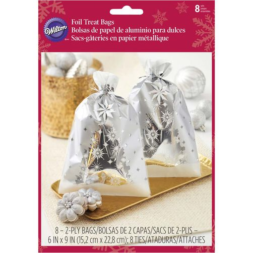 Silver Christmas Treat Bags