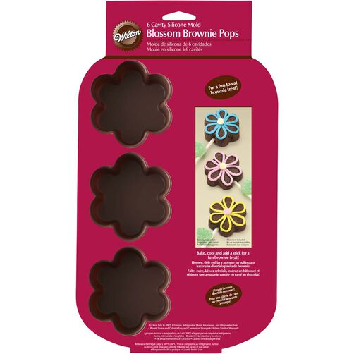 Blossom Brownie Pops 6-Cavity Silicone Mold