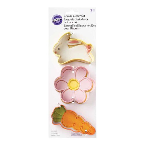 3 Pc Easter Cookie Cutter Set