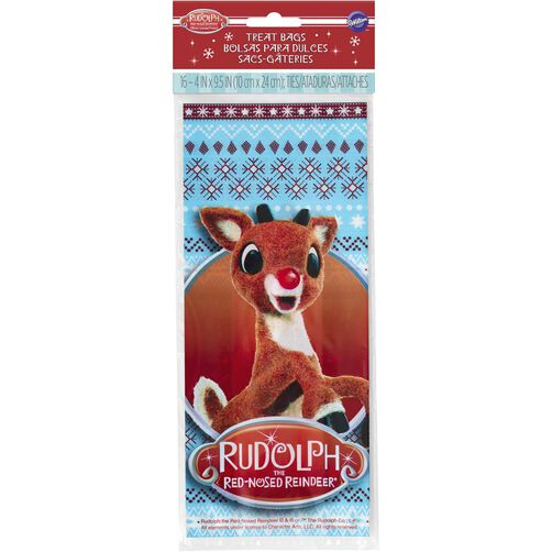 Wilton Rudolph Red-Nosed Reindeer Treat Bags