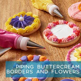 Learn how to pipe buttercream borders and flowers