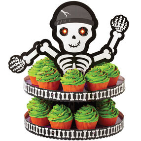 Glowing Surprise Skeleton Cupcakes