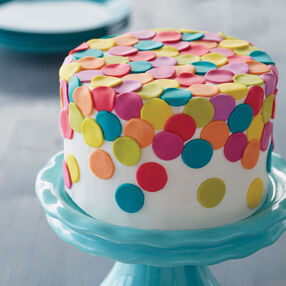 Color Me Happy Fondant Cake