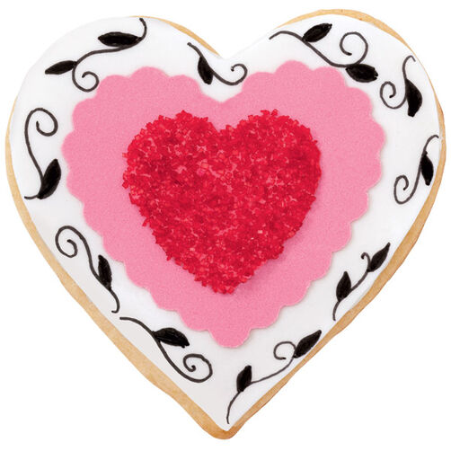 Sparkly Hearts Cookies