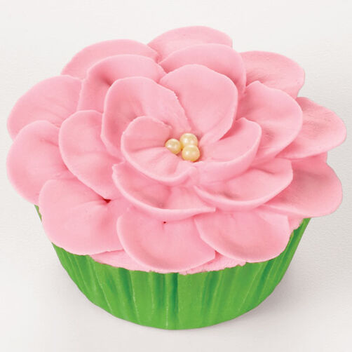 Piping a Flower on a Cupcake