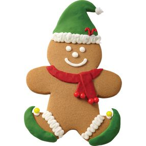 Gingerbread Boy with Hat and Scarf