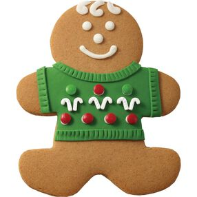 Gingerbread Boy with Candy Sweater