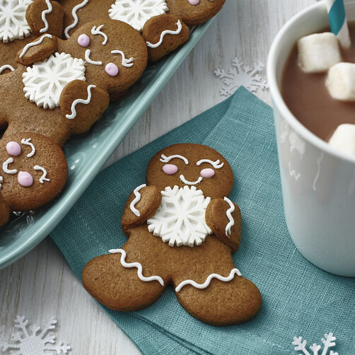 Sparkly Snowflake Gingerbread Friends