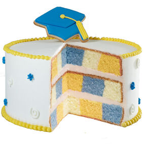 Capping Off Success Graduation Cake