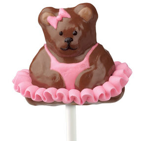 Ballerina Bear Cake on a Stick