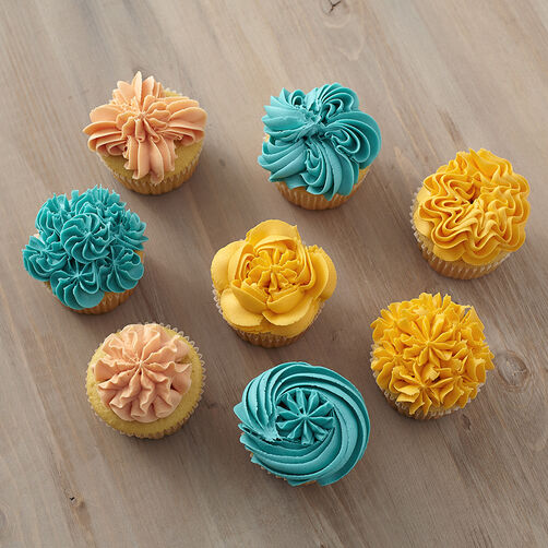 Ideas For Decorating Cupcakes: 8 Ways To Decorate Cupcakes Using Tip 1G
