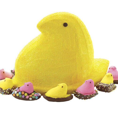 Easter PEEPS 3-D Cake and Candy Dipped Chicks
