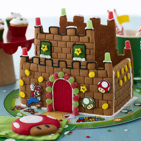 Nintendo Super Mario Gingerbread Castle and Cookie