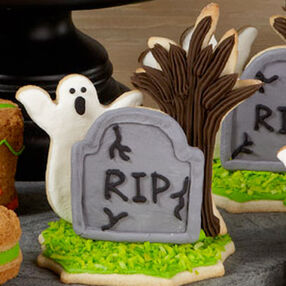 Ghostly Graveyard Halloween Cookies