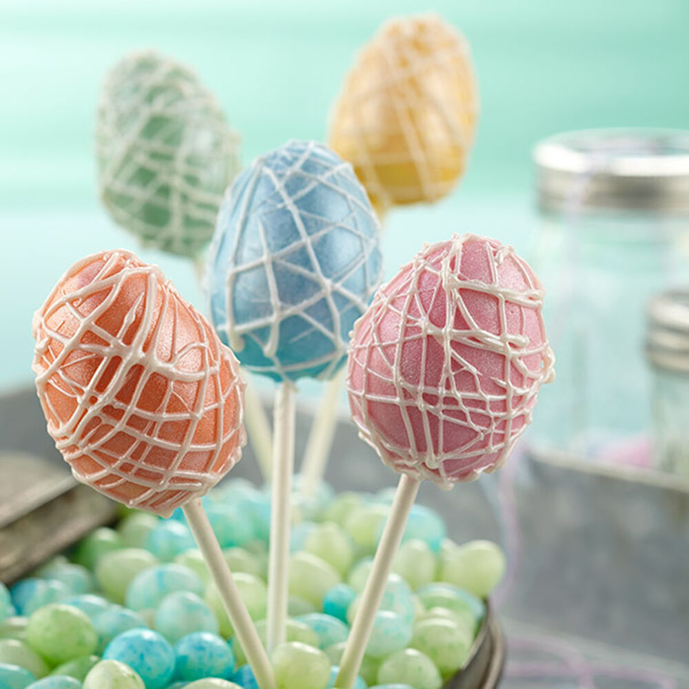 Pearlized Easter Egg Cake Pops Wilton