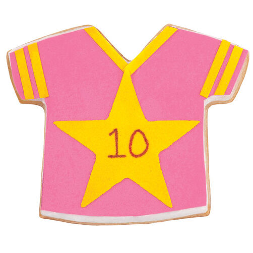 The Pink Team Jersey Cookies