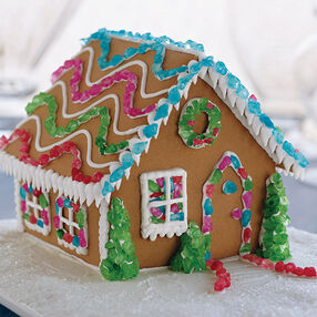 Bright Lights of Christmas Gingerbread House