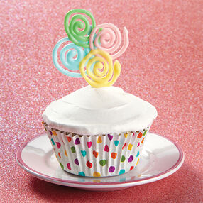 Sweet Spirals Candy Topper Cupcakes
