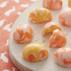 Easter Truffle Eggs in orange