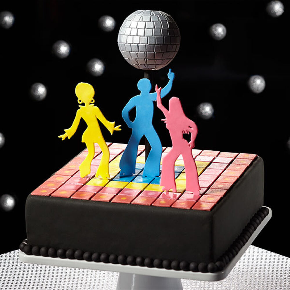 Disco Ball Party Decorations: 1970's Disco Cake