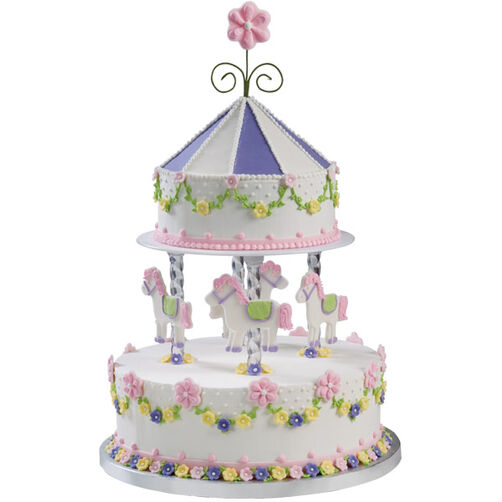 How To Make A Wilton Carousel Cake