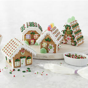 Assembling a Gingerbread Village