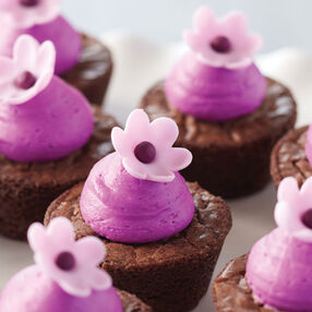 Very Violet Mini Brownie Bites