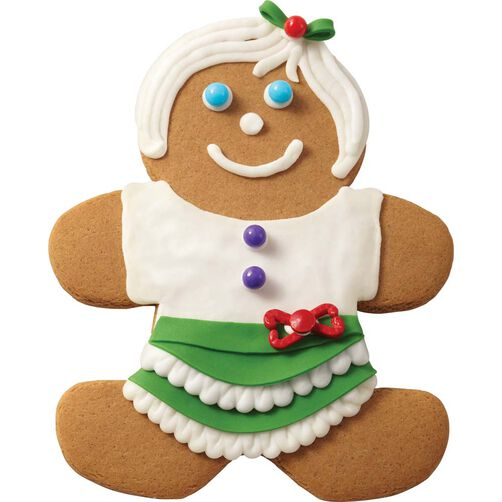 Gingerbread Girl with Green Skirt