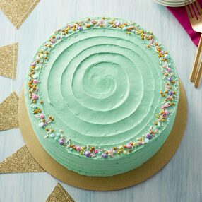 Easy Teal Buttercream Cake