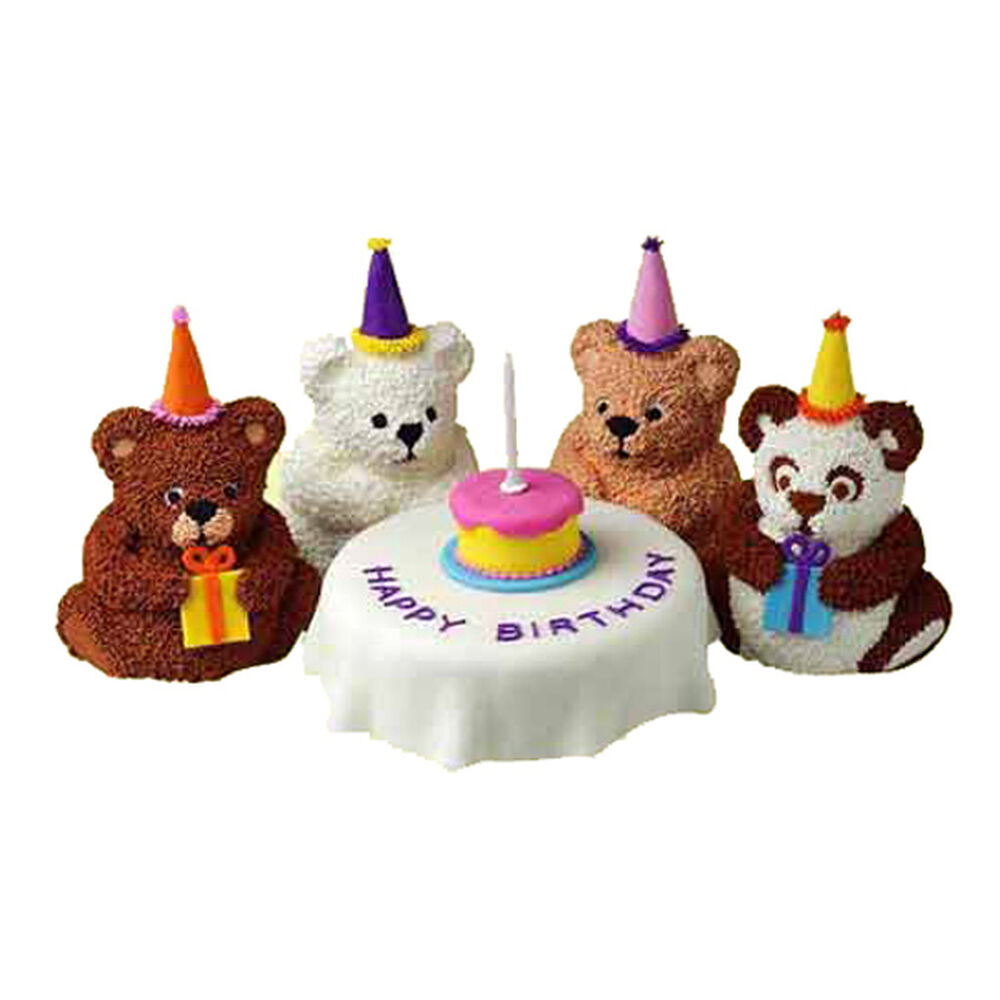 Bear S Birthday Mini Cakes Wilton