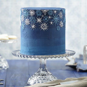 Snowfall Celebration Buttercream Cake