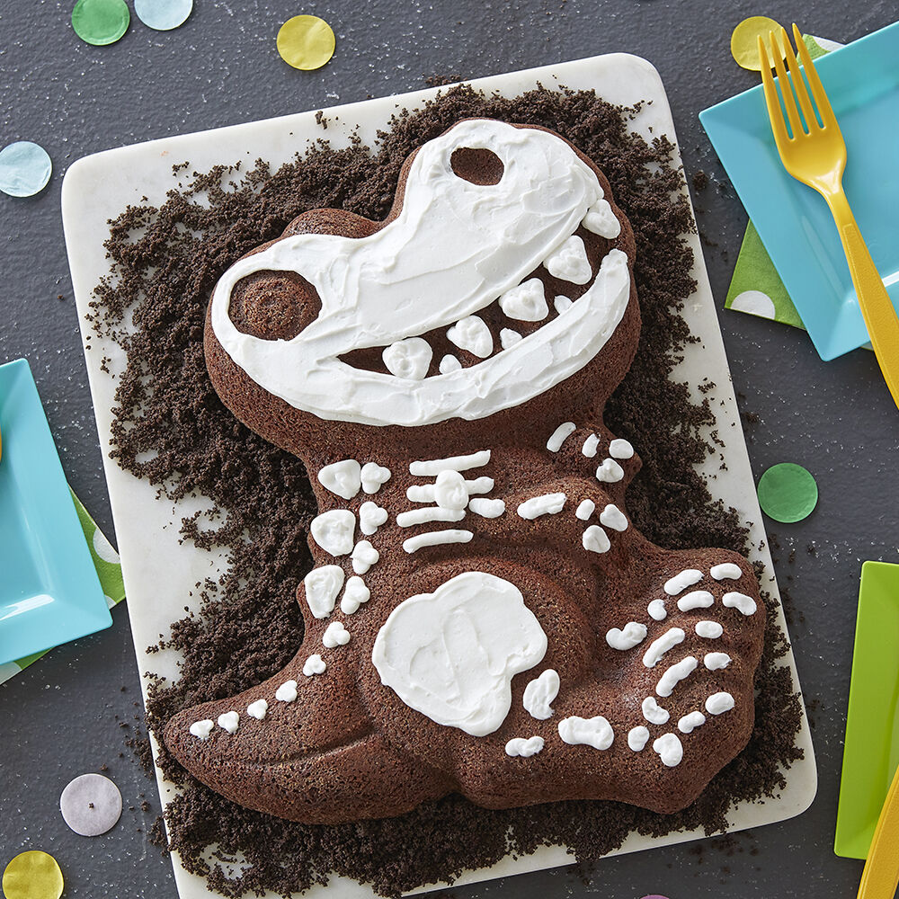 Good to the Bone Brownie Dino Cake