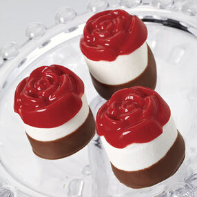 Rose-Topped Marshmallow Treats