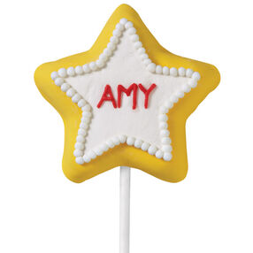 Your Name in Lights Cookie Pops