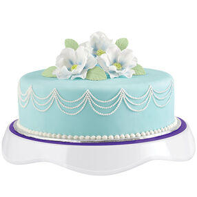Breathtaking Floral-Crowned Fondant Cake
