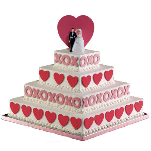 Hugs and Kisses All Around Cake